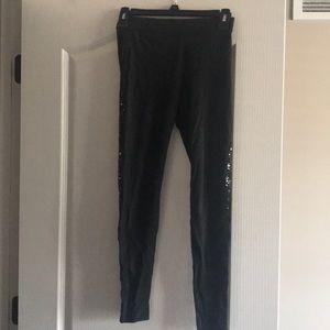 Victoria secret sequin leggings (black)